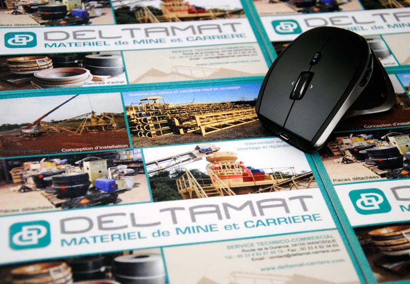 Détail des tapis de souris publicitaire pour Deltamat