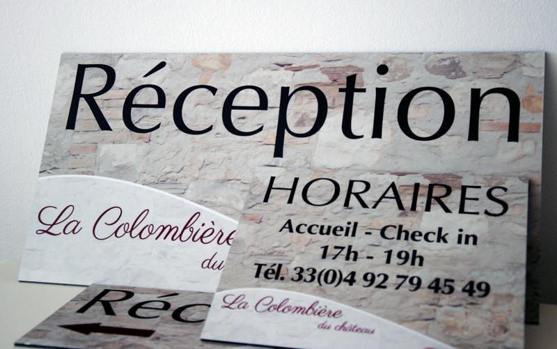 panneau-reception-gite-provence-1