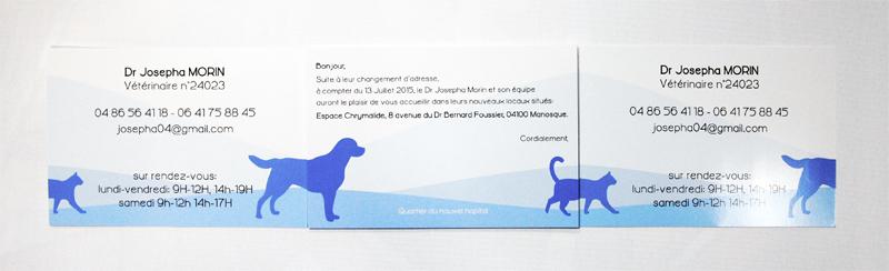 carte de correspondance pour déménagement