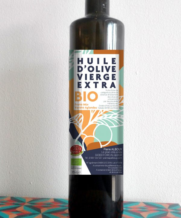 design etiquette huile d'olive
